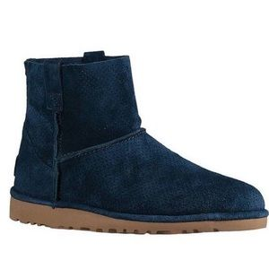 UGG Australia unlined Perforated suede Booties